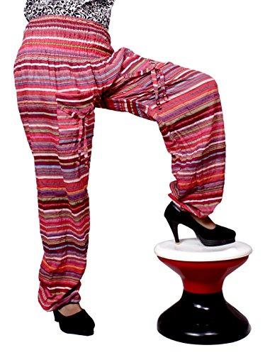 Amazingindiaonline - Pantalón - para mujer Rosso