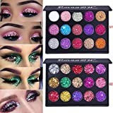 #5: Bifast 15 Shades Eyeshadow Palette Shiny and Pigmented Mineral Pressed Powder Glitter Eyes Long Stay On Make Up Eye Shadow Shimmer Palettes (Style 2)