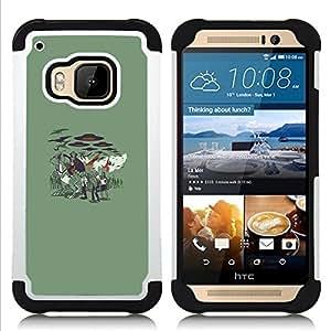 - Vampire Zombie Attack/ H???¡¯????brido 3in1 Deluxe Impreso duro Soft Alto Impacto caja de la armadura Defender - SHIMIN CAO - For HTC ONE M9