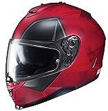 HJC Cascos Unisex Adulto Casco De Cara Completa Casco De Moto Casco De Moto De Deadpool (Red, X-Small)