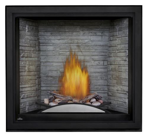 Napoleon Starfire NG Fireplace w/Fire Cradle, Standard Barrier & White Panel