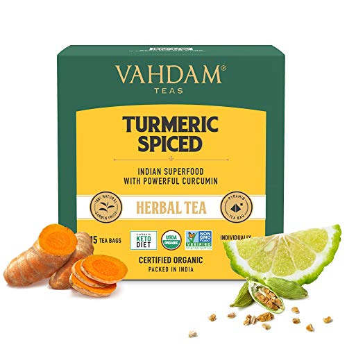 VAHDAM Organic Spiced Turmeric Tea