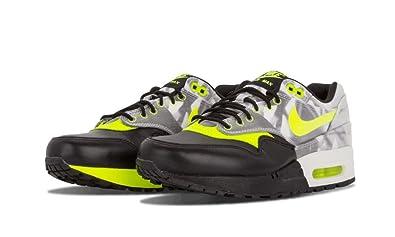 Nike Women's Wmns Air Max 1 FV QS, BLACK/VOLT-WHITE, 5.5