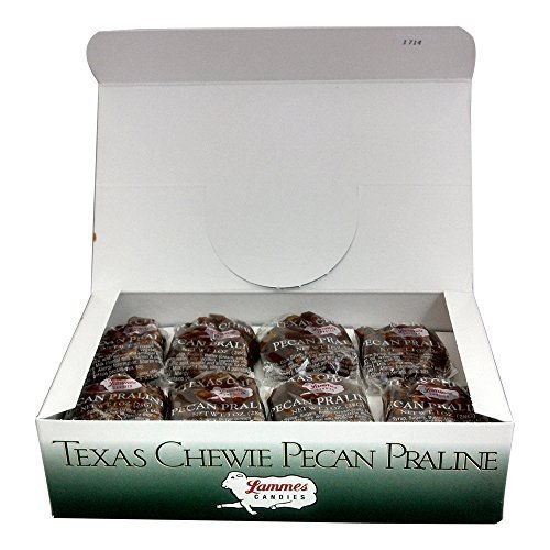 Lammes Texas Chewie Pecan Praline Candy 24 Piece Box - Enjoy Texas Pecans Combined With Chewy Pralines For A Gourmet Treat!