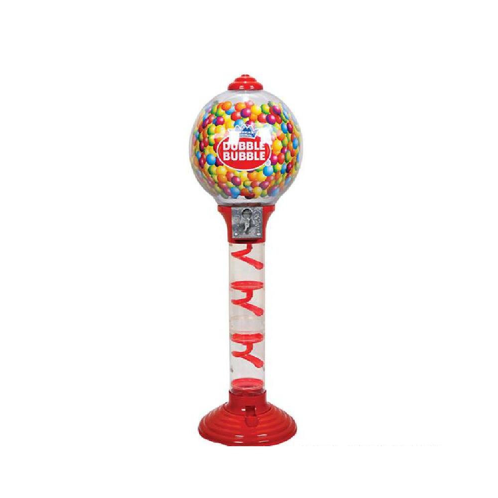 3' Double-Bubble Metal Gumball Machine (With Sticky Notes)