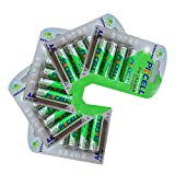 NIMH AA 600mAh Battery Low Self Discharged 1.2V Precharged Battery For Solar Lights 20pcs