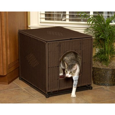 Decorative Litter Box Cover Color: Dark Brown, Size: Large (19'' H x 16'' W x 20'' D) by Mr. Herzher's