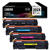 LEMERO Replacement for HP CF500X CF501X CF502X CF503X 202X 202A Black Toner Cartridge - for HP LaserJet Pro M254dw M281fdw M281cdw Printer, High Yield 4 Pack
