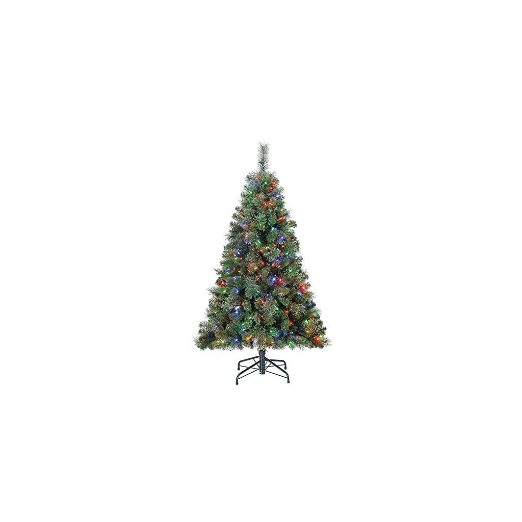 Home-Heritage-Cascade-Artificial-Pine-Christmas-Tree-with-Dual-LED-Changing-Lights