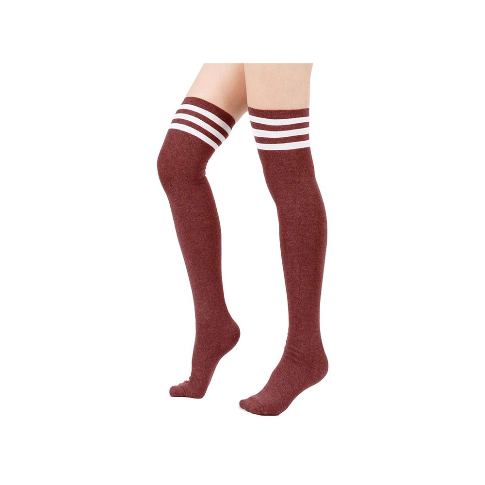 Absolutely Perfect Womens 3-Stripe Triple Over the Knee Retro Thigh High Socks