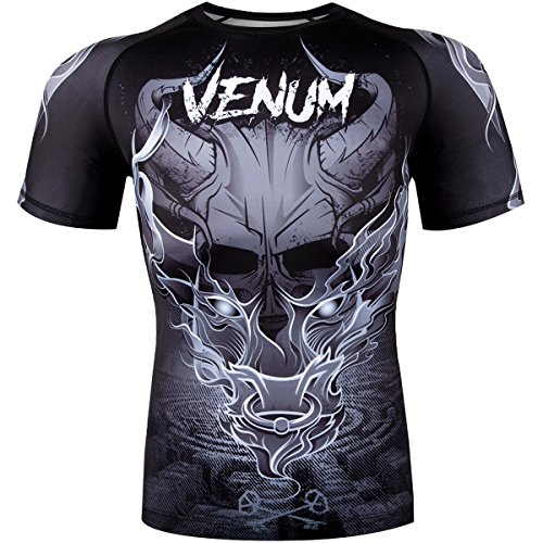 Venum Dragon's Flight Dry Tech Short Sleeve MMA Rashguard - Small - Black/Red