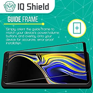 Galaxy Note 9 Screen Protector (1-Pack)[3D Glass in Black], IQ Shield Tempered Ballistic Glass Screen Protector for Samsung Galaxy Note 9 99.9% Transparent HD [Full Coverage] Shield by IQ Shield