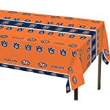 """Creative Converting 724830 Auburn Tigers Plastic Table Cover, 54""""X108"""", Plastic Tablecover"""