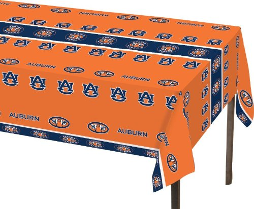 Creative Converting Auburn Tigers Plastic Table Cover, 54