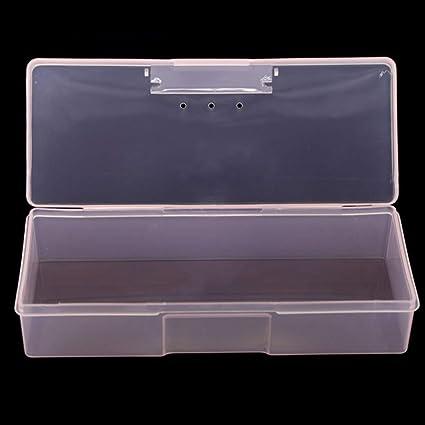 Shengyan Impecable Plástico Transparente Caja Almacenaje Caja Rectangular Herramienta Plástico Coleccionar Transparente Uña Puntas Estuche Joyería Cajas para Reloj - Rosa: Amazon.es: Belleza