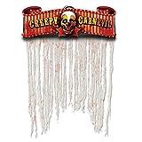 "Amscan Creepy Carnival Doorway Halloween Trick or Treat Curtain (1 Piece), Multicolor, 54"" x 38"""