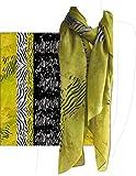 Pure Silk Georgette, 100% Silk , 63'' Length 42'' Width (Zebra Image)