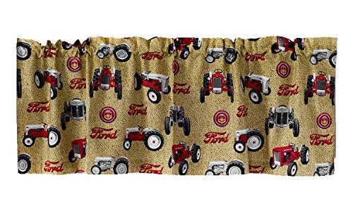 Ford Tractors Window Valance, tan (Tractors Tan)