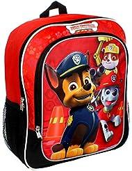 Paw Patrol 14 Backpack Boys Red Black