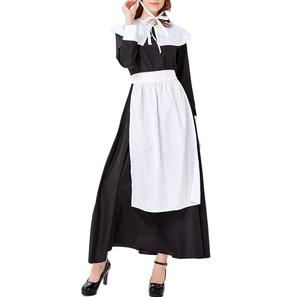 Women's Beer Festival Dress Bavarian Beer Festival Cosplay Maid's Costumes Clothes Daorokanduhp Black