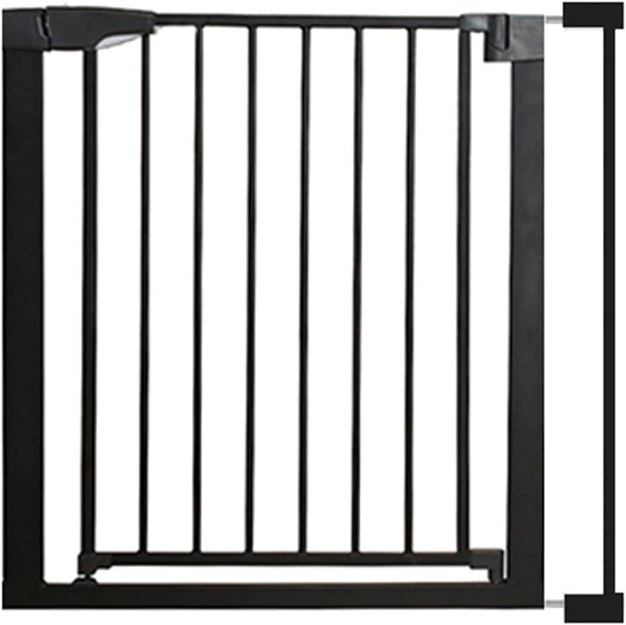 Barrera Seguridad Puerta de Bebé para Escaleras y Portales, Puerta de Escalera Metálica con Extensión, Cierre Automático de Doble Bloqueo - Puerta de Seguridad Interior