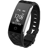 KOSCHEAL Rastreador de Ejercicios Deportivos,Monitor de frecuencia cardiaco,Monitor de Sue?o,Pod¨®Metro,Contador de calorias,Mensaje