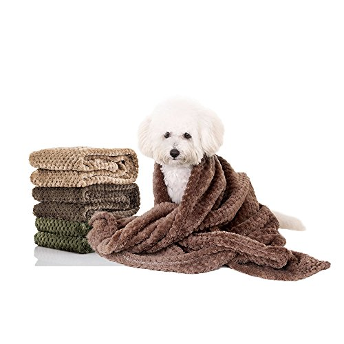 """Pet Blankets, Fleece Dog Cat Blankets, Lightweight and Soft Sleep Mat for Puppy Cats Rabbit Dogs or Baby, 40"""" 32"""""""