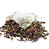 THE TEA SPOT Flat Belly Herbal Tea - Hibiscus Mint Pyramid Tea Bags in a Resealable Pouch - 100 Count