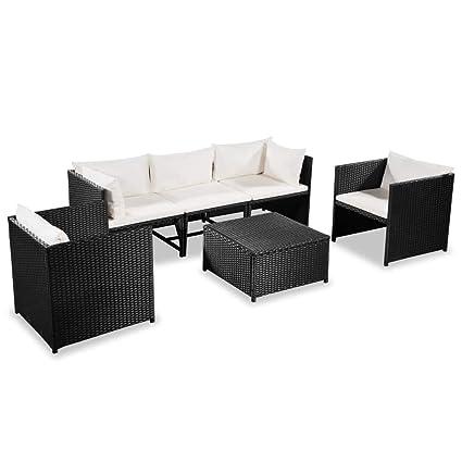 Amazon.com : vidaXL Garden Sofa Set 18 Pieces Poly Rattan ...