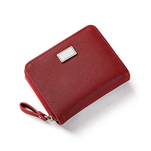 Fenghezhanouzhou Nouveau Pochette Porte-monnaie Femme Sleek Minimaliste Couleur Unie Forfait Multi-Capacité Coin Card