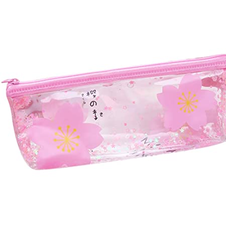 Vimbhzlvigour Estuche transparente con purpurina para lápices y bolígrafos, bolsa escolar con cremallera 3#: Amazon.es: Hogar