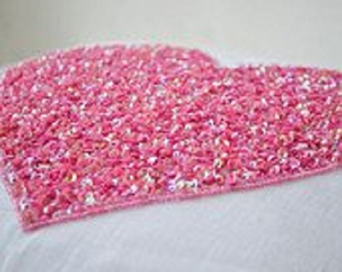 Amazon.com: White Linen de corazón almohada cubrir con rosa ...