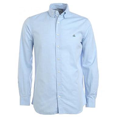9ce2b5b786ace Vivienne Westwood Menswear Shirt, Sky Blue Oxford Long Sleeve Shirt:  Vivienne Westwood Menswear: Amazon.co.uk: Clothing