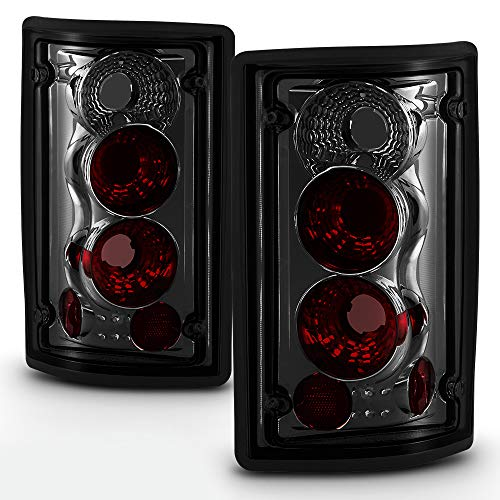 ACANII - For 2000-2006 Ford Excursion 95-06 Econoline Van E-Series Smoked Rear Tail Lights Brake Pair Lamps Left+Right