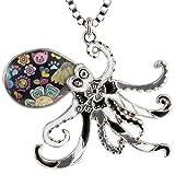 Luckeyui Cute Octopus Necklace for Women Girls Sea Life Animal Charm Pendants Jewelry