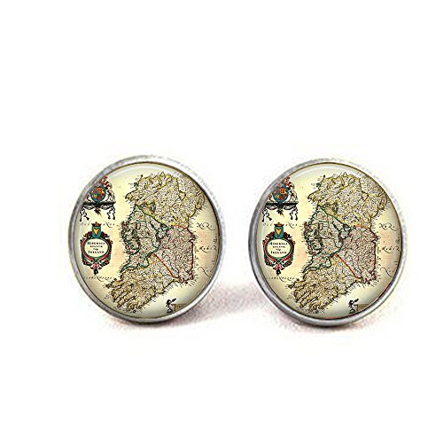 stap Antique Map of Ireland Early 1800s Cufflinks ()