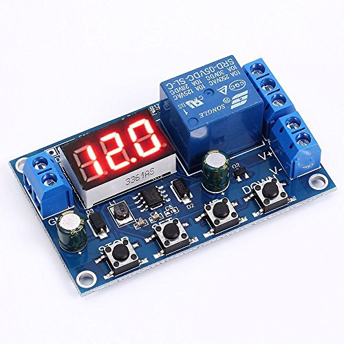 Icstation Programmable Lead Acid Battery Charge Controller Protection Switch with Timing Charge Voltage Meter DC 6V-40V