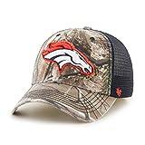 NFL Denver Broncos Realtree Huntsman Closer Stretch Fit Hat, Medium/Large, Realtree/Navy