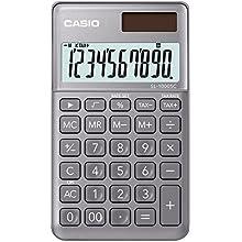 Casio SL-1000SC-GY - Calculadora de bolsillo, 0.9 x 7.1 x 12 cm, color plata