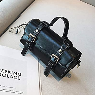 d46c70fe985f Amazon.com  Elegant PU Leather Women Handbag Women Shoulder Bags Classy  Women Leather Handbags Tote Female Women Bag A2363 l Color black  22x10x11CM  Shoes