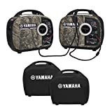 2000 Watt Portable Generator - Yamaha EF2000iSv2 Portable RV Generator 2000 Watt Kit in Camo with Sidewinder Parallel Cable & Covers | 2 Camo Generators / Inverters, 1 Sidewinder Parallel Cable, 2 Generator Covers (Black)