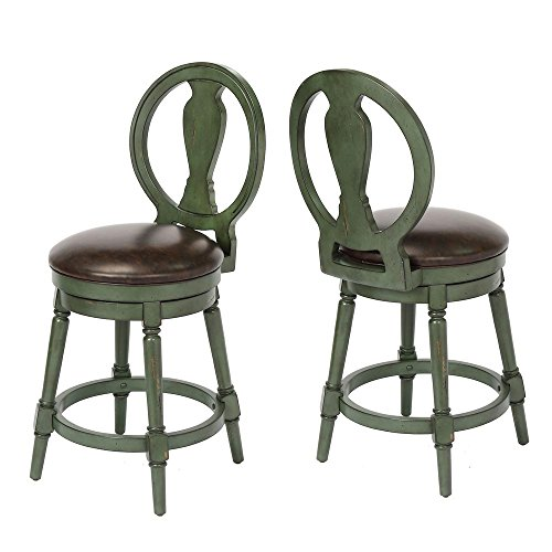 Foremost Candace Counter Height Swivel Stool, Green