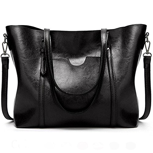 for Clutch Shopper Bags Tote Top Shoulder Handbags Hobo Bags Ladies FiveloveTwo All Women match Satchel Crossbody Handle Purse Black XqOawF7v