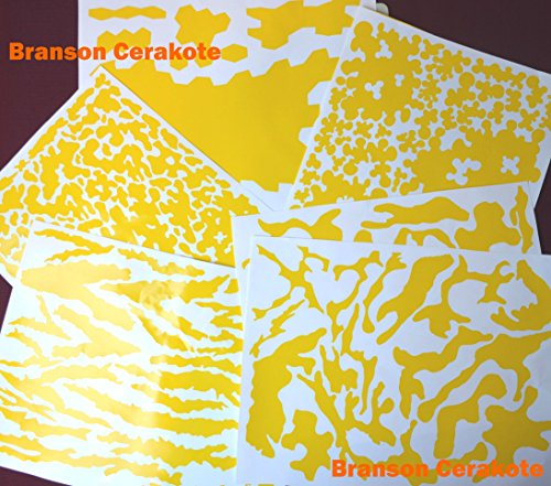 Price comparison product image Camo Vinyl Stencil Multi-Pack for Applicators, Rifle Vinyl Camo Stencils for High Heat Application, Cerakote, Duracoat, Krylon, Avery Dennison Stock