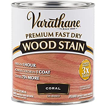 Varathane 307413 Premium Fast Dry Wood Stain 32 Oz Coral