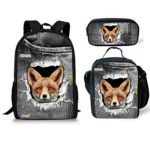 3pcs Chaqlin Fox 1 Cartable 6 Fox Noir Moyen cP1P0HqZw