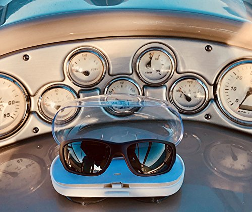 Captain's Choice Plastic Sunglasses Case w/Suction Cups: Sturdy Safety Eyewear Case for Men & Women| Easy to Mount Suction Sunglasses Case| Top Boater's & Fisherman's Accesso by Captain's Choice (Image #5)