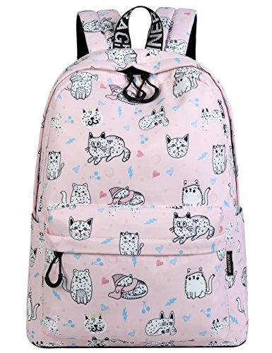 Bookbags for Teens, Cute Cat Laptop Backpack School Bags Travel Daypack Handbag by Mygreen (Pink Kitty) - Kitty School Bag