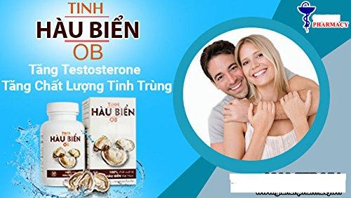 04 Boxes ( 30 capsules in 1 box) THỰC PHẨM CHỨC NĂNG Tinh Hàu Biển OB, Giúp tăng testosterone nội sinh một cách tự nhiên, tăng cường chức năng sinh lý nam