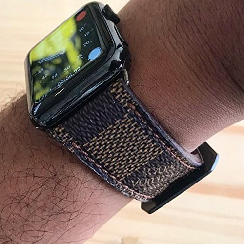 de742ca3cde Image Unavailable. Image not available for. Color  Custom Handmade Premium  Calf Leather Watch Band Gunny Straps - Louis Vuitton ...